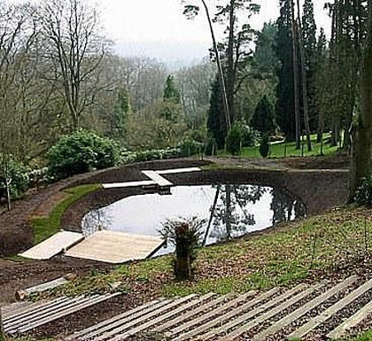 large garden ponds design and construction of large garden ponds