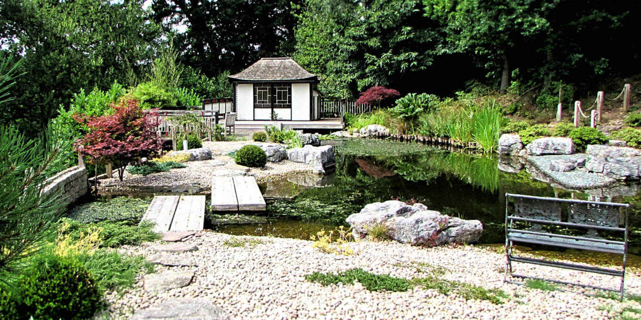 We designed and built this extravagent Japanese style pond